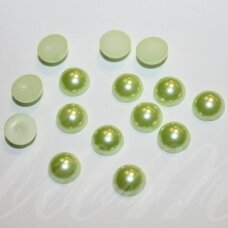kab-akr12-disk-08x3.7 about 8 x 3.7 disko shape, jade, acrylic cabochon, about 100 pcs.