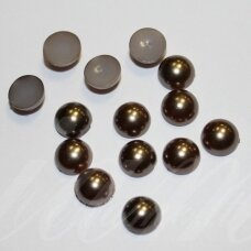 kab-akr17-disk-06.8x3.2 about 6.8 x 3.2 disko shape, brown color, acrylic cabochon, about 130 pcs.