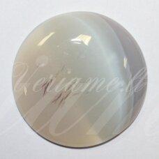 kab-kaa-disk-18 apie 18 mm, disko forma, agatas, kabošonas, 1 vnt.