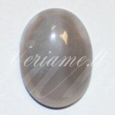kab-kaa0003-oval-25x18 apie 25 x 18 mm, ovalo forma, marga, pilka spalva, agatas, kabošonas, 1 vnt.