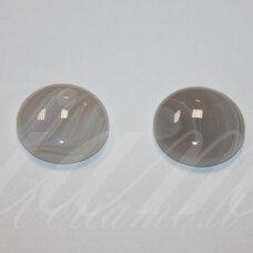 kab-kaa0013-disk-20 apie 20 mm, disko forma, agatas, kabošonas, 1 vnt.