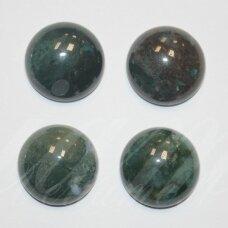 KAB-KAA02-DISK-10 apie 10 mm, disko forma, margas, agatas, kabošonas, 1 vnt.
