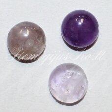 kab-kaam-disk-12 apie 12 mm, disko forma, ametistas, kabošonas, 1 vnt.