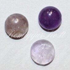 KAB-KAAM-DISK-16 apie 16 mm, disko forma, ametistas, kabošonas, 1 vnt.