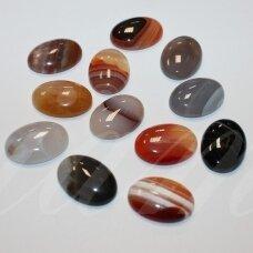 kab-kaamix-oval-25x18 apie 25 x 18 mm, ovalo forma, agatas, kabošonas, 1 vnt.