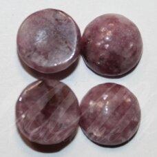 KAB-KACR-DISK-10 apie 10 mm, disko forma, čaroitas, kabošonas, 1 vnt.