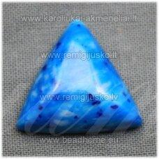 kab-kah08-trik-18x6 apie 18 x 6 mm, trikampio forma, marga, mėlyna spalva, hovlitas, kabošonas, 1 vnt.