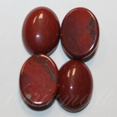 kab-kaja01-oval-20x15 apie 20 x 15 mm, ovalo forma, marga, ruda spalva, jaspis, kabošonas, 1 vnt.