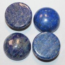 kab-kalaz-disk-18 apie 18 mm, disko forma, lazuritas, kabošonas, 1 vnt.