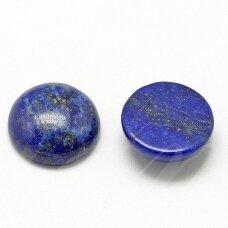 kab-kalaz-disk-14 apie 14 mm, disko forma, lazuritas, kabošonas, 1 vnt.