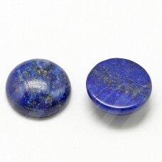 kab-kalaz-disk-12 apie 12 mm, disko forma, lazuritas, kabošonas, 1 vnt.