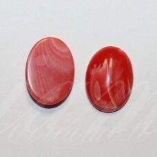 KAB-KAML0001-OVAL-20x15 apie 20 x 15 mm, ovalo forma, sintetinis, margas, malachitas, kabošonas, 1 vnt.