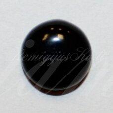 KAB-KAON-DISK-18 apie 18 mm, disko forma, oniksas, kabošonas, 1 vnt.