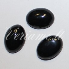 KAB-KAON-OVAL-16x12 apie 16 x 12 mm, ovalo forma, oniksas, kabošonas, 1 vnt.