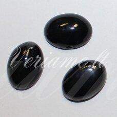 KAB-KAON-OVAL-20x15 apie 20 x 15 mm, ovalo forma, oniksas, kabošonas, 1 vnt.