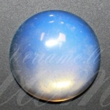 kab-kaop-disk-20 apie 20 mm, disko forma, opalitas, kabošonas, 1 vnt.