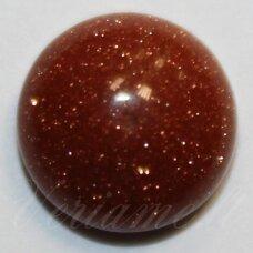 KAB-KASA-DISK-16 apie 16 mm, disko forma, saulės akmuo, kabošonas, 1 vnt.
