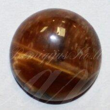 kab-kata-disk-18 apie 18 mm, disko forma, tigro akis, kabošonas, 1 vnt.