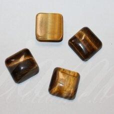 kab-kata-kvad-18.5x18.5x6 apie 18.5 x 18.5 x 6 mm, kvadrato forma, tigro akis, kabošonas, 1 vnt.