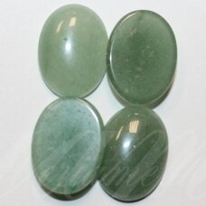 KAB-KAZA-OVAL-14x10 apie 14 x 10 mm, ovalo forma, žadeitas, kabošonas, 1 vnt.
