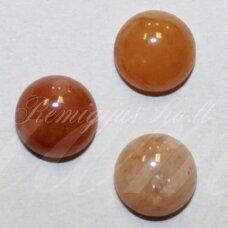 kab-kaza-svrud-disk-16 apie 16 mm, disko forma, žadeitas, kabošonas, 1 vnt.