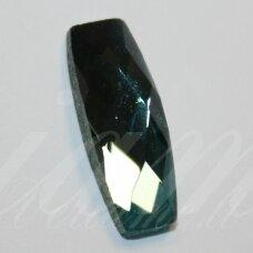 KAB-SK0002-PAI-19x7 apie 19 x 7 mm, pailga forma, briaunuotas, skaidrus, melsvai žalia spalva, stiklinis kabošonas, 1 vnt.