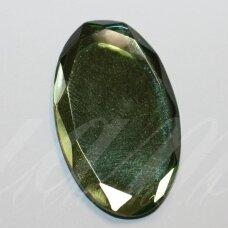 kab-sk0004-oval-38x23 apie 38 x 23 mm, ovalo forma, briaunuotas, skaidrus, žalia spalva, stiklinis kabošonas, 1 vnt.
