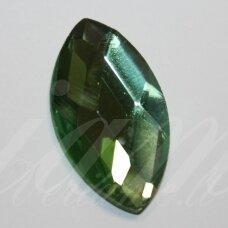 KAB-SK0004-PAI-28x16 apie 28 x 16 mm, pailga forma, briaunuotas, skaidrus, žalia spalva, stiklinis kabošonas, 1 vnt.