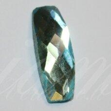 kab-sk0005-pai-19x7 apie 19 x 7 mm, pailga forma, briaunuotas, skaidrus, žydra spalva, stiklinis kabošonas, 1 vnt.