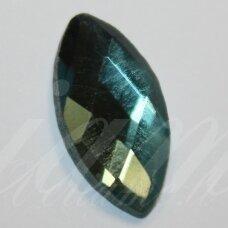 KAB-SK0005-PAI-28x16 apie 28 x 16 mm, pailga forma, briaunuotas, skaidrus, žydra spalva, stiklinis kabošonas, 1 vnt.