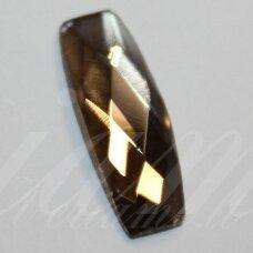 KAB-SK0008-PAI-19x7 apie 19 x 7 mm, pailga forma, briaunuotas, skaidrus, ruda spalva, stiklinis kabošonas, 1 vnt.