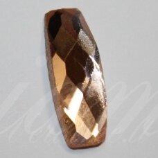 KAB-SK0010-PAI-19x7 apie 19 x 7 mm, pailga forma, briaunuotas, skaidrus, kreminė spalva, stiklinis kabošonas, 1 vnt.