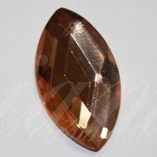 KAB-SK0010-PAI-28x16 apie 28 x 16 mm, pailga forma, briaunuotas, skaidrus, kreminė spalva, stiklinis kabošonas, 1 vnt.