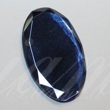 kab-sk0011-oval-38x23 apie 38 x 23 mm, ovalo forma, briaunuotas, skaidrus, mėlyna spalva, stiklinis kabošonas, 1 vnt.
