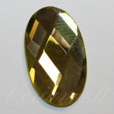 KAB-SK0022-OVAL-34x20 apie 34 x 20 mm, ovalo forma, briaunuotas, skaidrus, gelsva spalva, stiklinis kabošonas, 1 vnt.