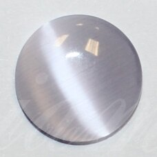 kab-stkat21-disk-12 apie 12 x 3 mm, disko forma, šviesi, violetinė spalva, katės akies efektas, stiklinis kabošonas, 1 vnt.