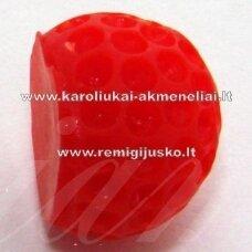 kab0030 apie 14 x 12 mm, raudona spalva, 1 vnt.