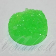kab0031 (cres-s040-12 mm) 12 x 5 mm, ryški, žalia spalva, akrilinis kabošonas, 1 vnt.