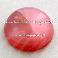 kab0035 apie 11 x 5 mm, rožinė spalva, akrilinis kabošonas, 1 vnt.