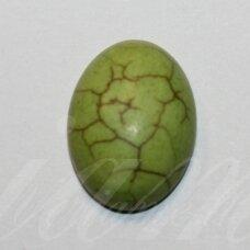 KAB0382 apie 18.5 x 13.5 x 6 mm, pailga forma, salotinė spalva, akrilinis kabošonas, 1 vnt.