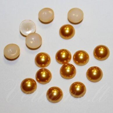 kab-akr05-disk-05.8x3 apie 5.8 x 3 disko forma, auksinė spalva, akrilinis kabošonas, apie 170 vnt.