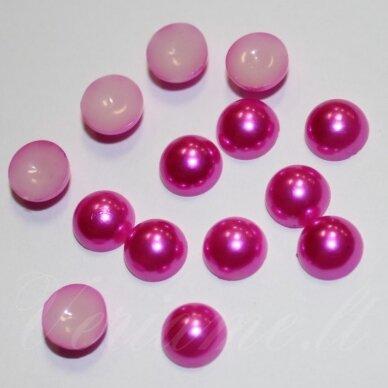kab-akr10-disk-04.9x2.5 apie 4.9 x 2.5 mm, disko forma, tamsi, rožinė spalva, akrilinis kabošonas, apie 300 vnt.