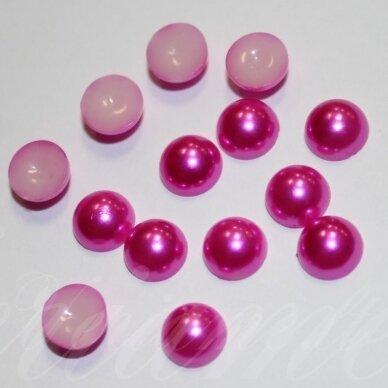 kab-akr10-disk-05.8x3 apie 5.8 x 3 disko forma, tamsi, rožinė spalva, akrilinis kabošonas, apie 170 vnt.