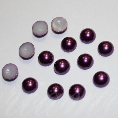 kab-akr11-disk-03.8x1.8 apie 3.8 x 1.8 mm, disko forma, violetinė spalva, akrilinis kabošonas, apie 600 vnt.