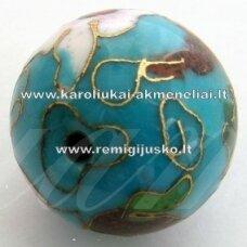 kcl0031 about 8 mm, cloisonne beads, light blue color, 1 pc.