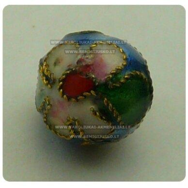 kcl0036 about 7.5 mm, cloisonne beads, blue color, 1 pc.