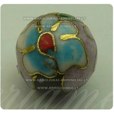 kcl0067.5 about 6 mm, cloisonne beads, pink color, 1 pc.
