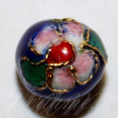 kcl0075 about 9 x 10 mm, blue color, cloisonne beads, 1 pc.
