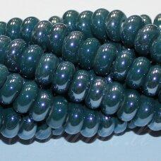 ker0009-ron-05x10 (a27) apie 5 x 10 mm, rondelės forma, elektrinė spalva, keramikiniai karoliukai, 1 vnt.