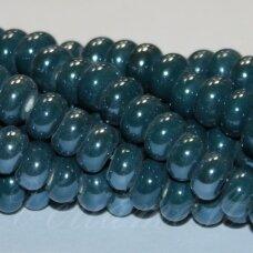 ker0009-ron-05x8 (a27) apie 5 x 8 mm, rondelės forma, elektrinė spalva, keramikiniai karoliukai, 1 vnt.